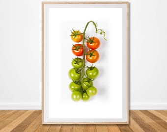Tomato digital print download wall art kitchen printable instant office red vegetable cherry photography restaurant food picture photo jpeg
