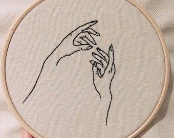 Idle hands - Erotic Embroidery, Embroidered Hoop, Embroidered Art, Embroidery