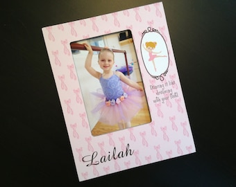 Personalized Ballet Gift Recital Photo Frame Ballerina Gift Dancer Gift Dance Keepsake Frame Wood 4x6 Picture Frame Custom Ballet Frame