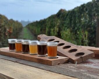 beer tasting tray, military beer flight, beer lover military gift, beer tasting holder, craft beer flight, gifts for him, veteran gift
