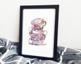 Tea Cup Poster Art