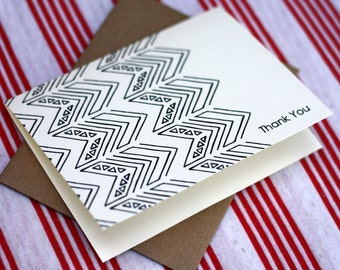 Tribal Notes #9 - A2 Printable Thank You Card (One Design)
