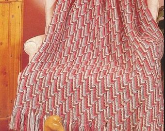 crochet granny  afghan multi-colour throw blanket bed cover lap blanket vintage pattern instant download pdf