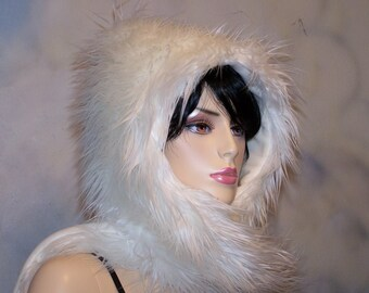 White Knight Hoodie Hat