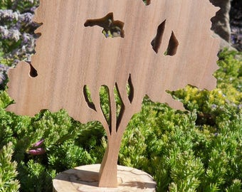 """WOODEN tree """"Walnut"""" with its base to stick"""
