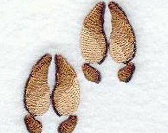 Moose Towel - Embroidered Towel -Wildlife Towel- Moose - Fingertip Towel