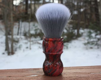 24MM SilkSmoke w/ Red Ripple Handle - APShaveCo.