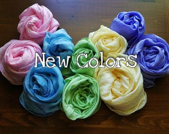 Playsilks, New Colors! Waldorf Inspired Single Play Silk, Medium (21x21 in). Dress Up, Accessory. Choose Colors