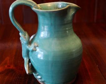 Frog Ceramic Pitcher, Frog, Gift, Housewarming Gift, Frog Pottery, Frog Lover, Frog Gifts