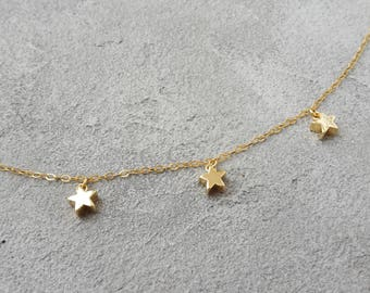 Gold Star, star necklace, 14k gold filled necklace, small star necklace, filigree jewelry, minimalist layering necklace