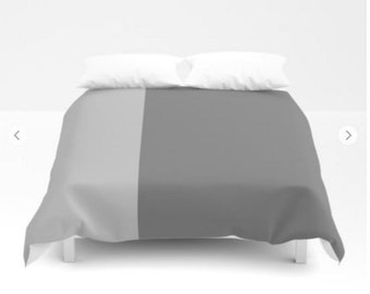 Gray Duvet Covers - Gray Bedding - FREE Shipping - Sizes, Twin, Full, Queen and Full