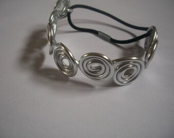 Bracelet silver color aluminum wire