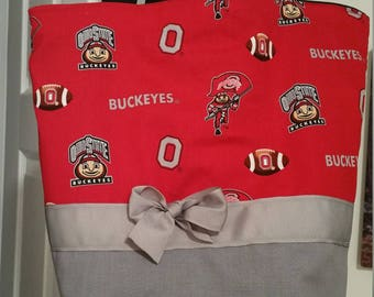 Ohio State Buckeyes Scarlet & Gray Football Big 10 Brutus  Purse Tote BAG or Diaperbag