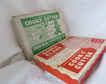 Two (2) Vintage Holiday cooky cutters