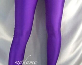 Footed spandex leggings / tights Purple