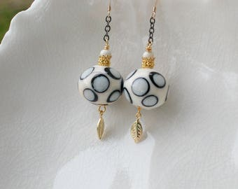 Polka Dot Earrings In Murano Glass