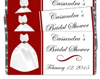Printable Wedding Candy Wrappers, fit over chocolate bars - CUSTOM candy wrapper design for you - bridal shower, wedding shower, YOU PRINT