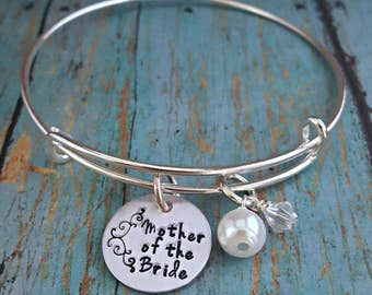 Mother of the Bride - Mother of the Bride Bracelet - Wedding Jewelry - Mother of the Bride Gift - Wedding Party - Gift for Mother - Wedding