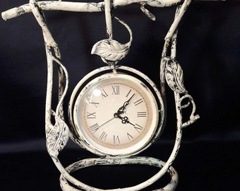 Retro Old Wrought Iron Clock Branches and Leaves