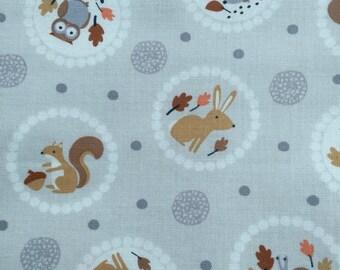 Woodland Crib Bedding, Fitted Crib Sheet, GRAY Crib Bedding, Forest Animal Sheet, Owls, Squirrels, Rabbits, Hedgehogs, SALE BEDDING