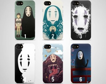 Spirited away phone case no face iPhone case 7 X plus 8 6 6s 5 5s s se galaxy spirited away Samsung case s8 s7 edge s6 s5 s9 note gift art