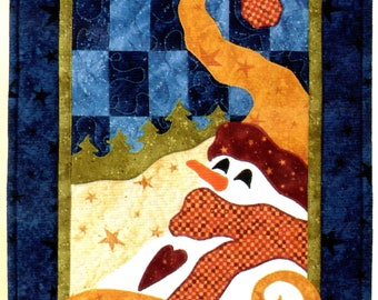 KIT - Snowman Table Runner Dreamin' of Snow by Jeri Kelly fabric and pattern