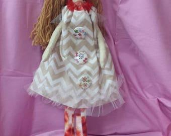 Soft  Doll/ Rag Doll/ Doll for Baby/ Doll for Girl/ Handmade Doll/ Doll for Gift/ Tilda