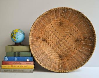Large Square-Based Bohemian Wall Basket