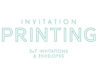 Professionally printed invitations with white envelopes