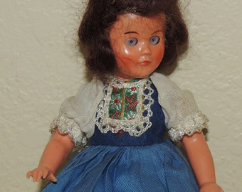 1940s-50s Hard Plastic Doll