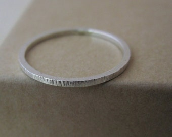 Lines Skinny Stacking Ring - Textured Silver   simple silver ring   midi ring   textured ring   stacker ring   stackable   mother's day