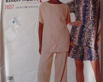 Stitch and Save Sewing Pattern - Top, Pull-on Pants and Pull-on Shorts - McCall's 7637 - Sizes 18-20-22-24, Bust 40 - 46, Uncut