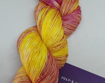 Lolipop - hand dyed yarn, 4pl merino/nylon 85/15 sock yarn