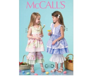 McCall's 7110 - Children's/Girls' Ruffled Dresses, Pants and Necklace