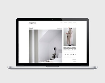PREMADE BLOGGER TEMPLATE - Eloquence - Very Simple, Minimalist, Affordable