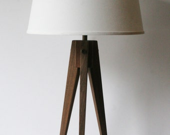 Table Lamp Tripod Slim - Walnut