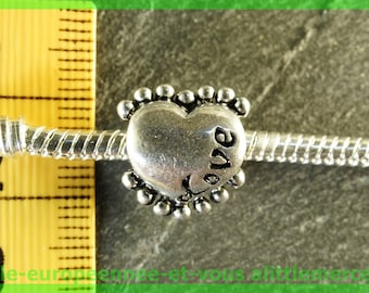 European N11 Pearl Heart love charms bracelet