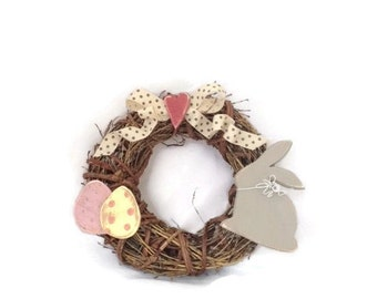 Wreath / Easter Wreath / Door Wreath / Spring Decor / Easter Bunny Decor / Easter Decorations /hare ornaments / Easter gifts