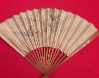 Chinese fan, antique fan, 19th century.