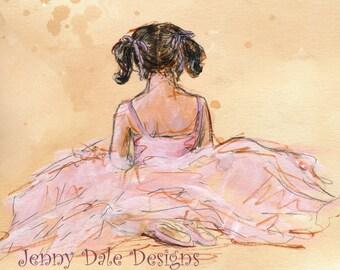 Girl Ballet Dancer: Art print with Poetry