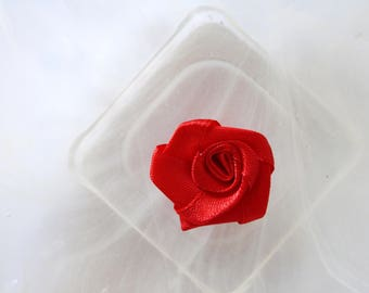 red rose flower fabric scrapbooking