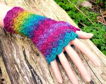 US Crochet Pattern for Crochet Fingerless Gloves