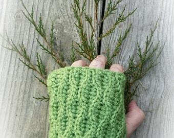 Evergreen Fingerless Mitts (Gloves)
