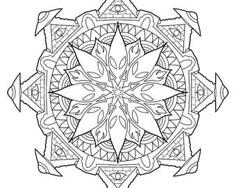 2 Mandala coloring pages - Digital Download