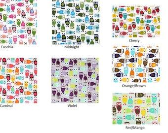 Custom Owl Minky Baby Blanket, Crib Blanket, Minky Baby, Personalization FREE