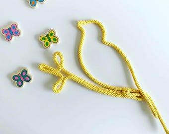 Wool bird - shaped knitting