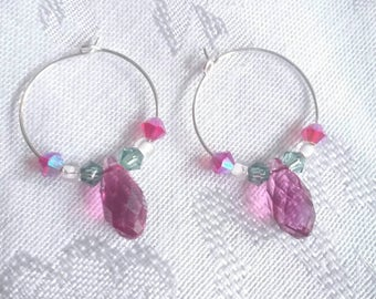 Swarovski Crystal Drop Earrings  with Sterling Silver
