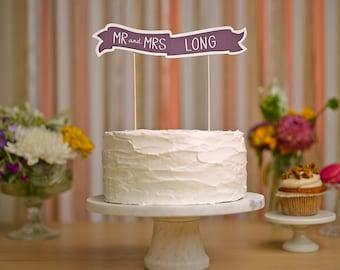 Custom Cake Banner No. 1 - Wedding Cake Topper