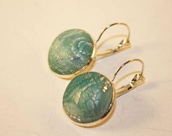 Polymer Mokume Gane Earrings