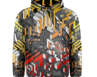 Pull over hoodie - Interdimensional (Fire)